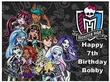 "Monster High Personalizado A4 Cake Topper Comestibles De Oblea De Papel 7.5 ""en un 10"""