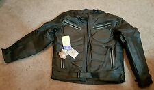 Authentic Leather Jacket w/ Leidel & Kracht protective Foam Inserts, Sz. LG.