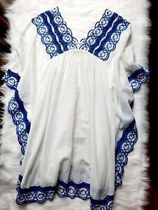 Gharani Strok Womens Designer Kaftan UK 8 -12 Beach Dress Boho Embroidered Tunic