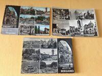 Cartolina Bergamo lotto di 3 cartoline con vedutine VG