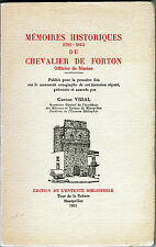 C1 NAPOLEON Memoires CHEVALIER FORTON Offcier Marine 1781 1815 MER Beaucaire