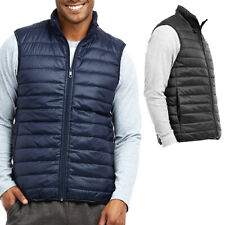Men's Lightweight Water-Resistant Packable Puffer Vest Winter Warm Waistcoat M L