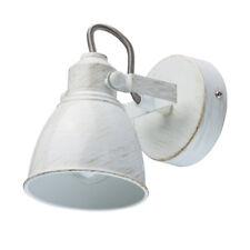 Applique lampada da parete rotativo rustico colore bianco ed oro dipinto metallo