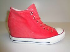 Converse Size 9 CT LUX MID Pink Canvas Hidden Platform Sneakers New Womens Shoes