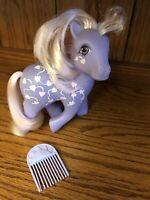 Vintage My Little Pony Twice As Fancy Love Melody. 1987 Purple w/ Pink Hearts