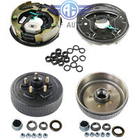 "Trailer 10""X2-1/4"" Electric Brake 5 on 4.5 Hub Drum Set Kits For 3500 lbs Axle"