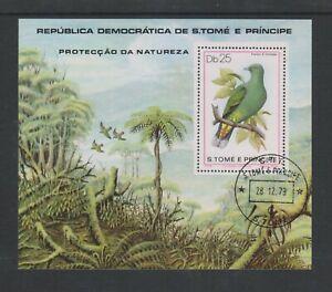 St Thomas & Prince Island - 1979, Nature Protection, Birds sheet - F/U
