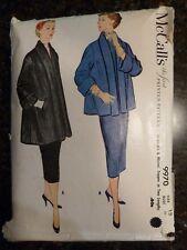 McCall's 9970 Misses Jacket Original 1954 Vintage Pattern size 12(Bust 30) Cut