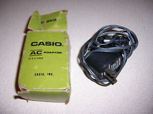 Vintage CASIO AC Power Adapter Model: 2-2000, 3VDC 50MA