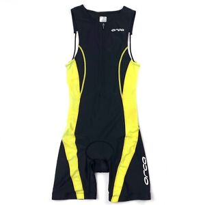 Orca Athletic Padded Cycling Race Suit Sleeveless Front Zip Size S