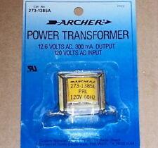 New Radio Shack Archer Power Transformer 12.6V 300mA pc mount terminals 12 volts