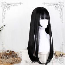 Lolita Kawaii Vintage Long Straight Hair Elegant Daily Wig Harajuku Gothic