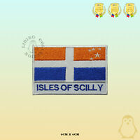 ISLES OF SCILLY County Flag With Name Embroidered Iron On Sew On Patch Badge