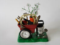 WHEELBARROW Gardeners Novelty Paperweight Clock From Alibi EXCELLENT CONDITION