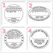 Personalized Office Rubber Stamp Set Self Ink Law Official Seal Justice of Peace