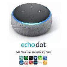 Amazon Echo Dot Wireless Bluetooth Alexa Smart Speaker Heather Grey Fabric GH T