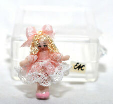 "Ethel Hicks Angel Children Wee Baby Porcelain Doll Miniature 1""  Blonde 1:12"
