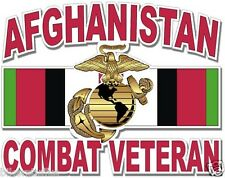 US MARINE CORP AFGHANISTAN COMBAT VETERAN BUMPER STICKER LAPTOP CLEAR BACKGROUND