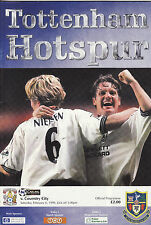 Tottenham Hotspur V COVENTRY CITY. Premiership 1998/99