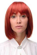 Wig Women's Wig short Bob Long Bob Fringe Smooth Red Fire Red 7803-137 Wig