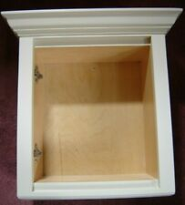Off-white Wood Cubby, Cabinet Sample with Crown Molding