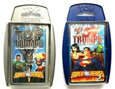 2011 Top Trumps World's Coolest Card War Game Super DC Heroes Volumes 1 And 2