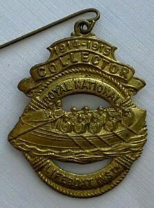ROYAL NATIONAL LIFEBOAT INSTITUTION RNLI 1914 - 1915 COLLECTORS BADGE - WWI ERA