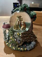 More details for disney snow globe large lady & the  tramp musical bella notte rare glitter