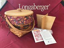 Longaberger 1996 Shades of Autumn Maple Leaf Basket lot - complete w/lid - Nice!