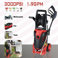 3000PSI 1.9GPM Electric Pressure Washer High Power Water Sprayer Cleaner Machine