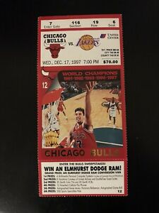 1997 Chicago Bulls Ticket Stub Los Angeles Lakers Kobe Bryant Michael Jordan