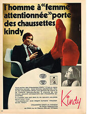 PUBLICITE ADVERTISING 014   1971   KINDY   chaussettes