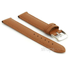 StrapsCo Genuine Matte Leather Watch Band Mens or Womens Ladies Strap