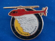 PINS VINTAGE HELICOPTERE HESOPE SAPEURS POMPIERS FIREFIGHTER HELICOPTER wxc z