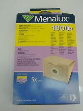 1900P MENALUX VACUUM BAGS PACK OF 5 ELECTROLUX VOLTA