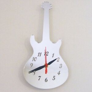 Electric Guitar Clock (Epiphone Style)- Acrylic Mirror (Several Sizes Available)