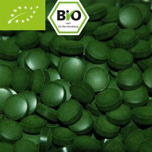 500g Bio Chlorella, 2000 Presslinge ohne Zusätze - 100% Bio mit Analyse