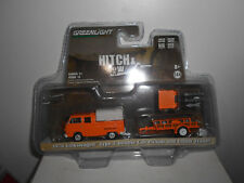 VOLKSWAGEN T2 TYPE 2 DOUBLE CAB PICK-UP + UTILITY TRAILER 1978 GREENLIGHT 1/64