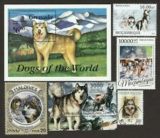Alaskan Malamute * Int'l Dog Postage Stamp Art Collection *Great Gift Idea*