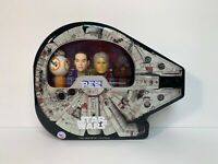 Star Wars Pez Tin Collectible BB 8 Rey Hans Solo Chewbacca Millennium Falcon NEW
