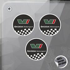 PEGATINA SKODA MOTORSPORT ROUNDEL VINILO VINYL STICKER DECAL ADESIVI