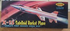 RARE!! VINTAGE [1959] AURORA NORTH AMERICAN X-15 SATELLOID WHITE! + REPRO DECALS