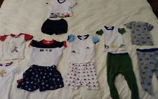 Lot of 12 Baby Boy Pjs Carter's Gymboree Tops 12-18 m pre owned