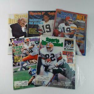 Sports Illustrated Magazine 1980s/90s NFL Cleveland Browns Lot Of 5 VTG