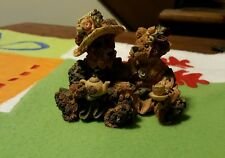 Boyds Bearstones Resin Emma and Bailey Afternoon Tea 1996 #2277 Vguc No box