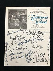NBA Enshrinement Program with 12 HOFer Autographs - Gervin Yardley Goodrich JSA