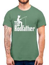 The Rodfather T Shirt Funny Parody Tee Men Gift Fisherman Fishing Godfather Fish