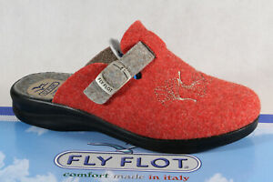 Fly Flot Ladies Slippers Mules Slippers Orange New