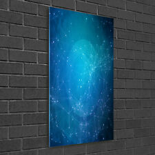 Wandbild Kunst-Druck auf Hart-Glas senkrecht 50x100 Abstraktes Sternbild