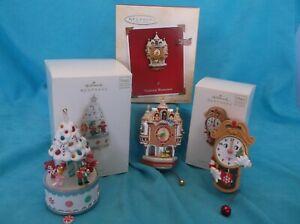 3 Hallmark Magic Motion Ornaments-A Sweet Noel, Cookie Clockington & Tick Tock